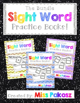 NO PREP Interactive Sight Word Practice Books - The Bundle!