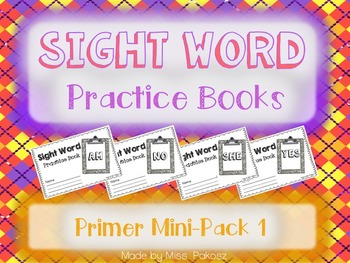 NO PREP Interactive Sight Word Practice Mini-Bundle 1 - Pr