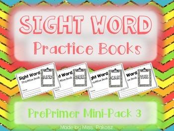 NO PREP Interactive Sight Word Practice Mini-Bundle 3 - PrePrimer Edition