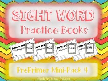 NO PREP Interactive Sight Word Practice Mini-Bundle 4 - PrePrimer Edition