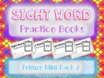 NO PREP Interactive Sight Word Practice Mini-Bundle 2 - Primer Edition