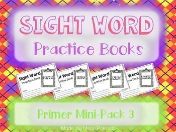 NO PREP Interactive Sight Word Practice Mini-Bundle 3 - Primer Edition