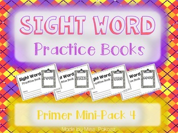 NO PREP Interactive Sight Word Practice Mini-Bundle 4 - Primer Edition