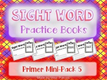 NO PREP Interactive Sight Word Practice Mini-Bundle 5 - Primer Edition