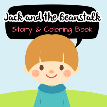 NO PREP! Jack and the Beanstalk Fairy Tales Story and Coloring Book