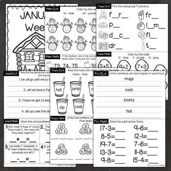 January Morning Work 1st Grade