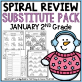 Sub Plans NO PREP Review Worksheets for January 2nd Grade