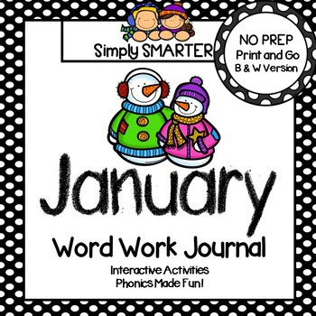 NO PREP January Word Work Journal