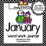 NO PREP January Word Work Journal