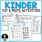 Kindergarten Cut and Paste Activities NO PREP Alphabet and