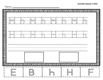 NO PREP Kindergarten Letter Formation