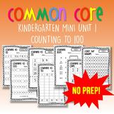 NO PREP Kindergarten Maths Mini Unit #1 Counting to 100
