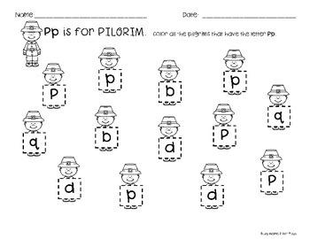 NO PREP Kindergarten Thanksgiving Activities :  Literacy