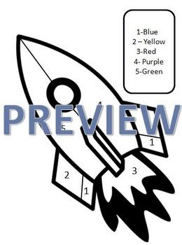NO PREP Kindergarten Year 1 Blast Off Math Space Theme