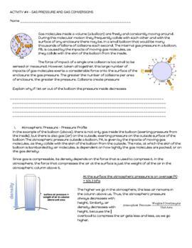 NO PREP Bundle -  Kinetic Molecular Theory and Gas Laws