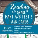 Reading Part A Part B Test, Task Cards RST 2- Nonfiction