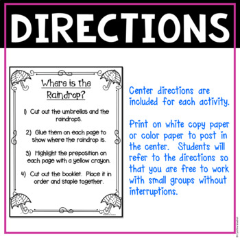 NO PREP! LITERACY Centers for April {2ndGrade}