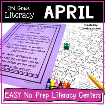 NO PREP! LITERACY Centers for April {3rd Grade}