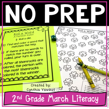 2nd Grade Literacy Centers for March No Prep