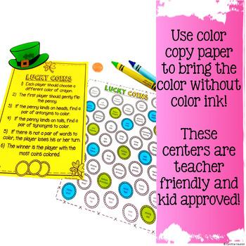 NO PREP LITERACY Centers for March {4th Grade}