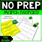 4th Grade Literacy Centers for March No Prep