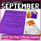 3rd Grade Literacy Centers for September No Prep