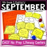 NO PREP! LITERACY Centers for September {4th Grade}
