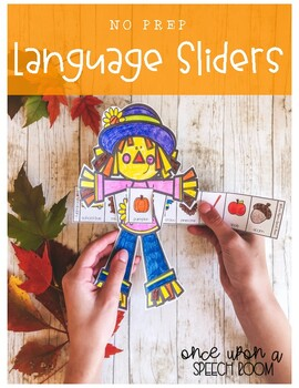 NO PREP Language Sliders: Fall Speech Therapy Activity