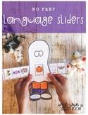 NO PREP Language Sliders: Halloween Speech Therapy Activity
