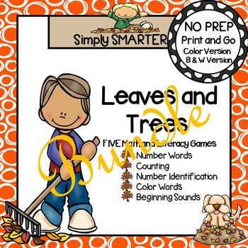 NO PREP Leaves and Trees Games Bundle