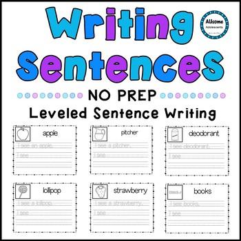NO PREP Leveled Sentence Writing