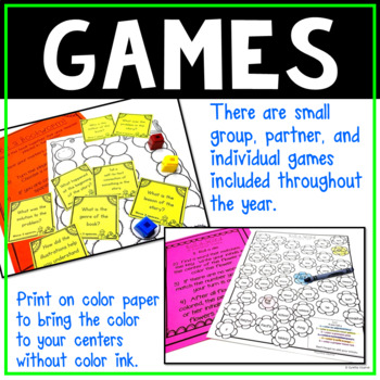 4th Grade Literacy Centers No Prep All Year (GROWING BUNDLE)
