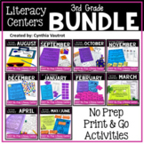 NO PREP Literacy Centers for All Year  {3rd Grade} Bundle