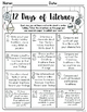 NO PREP Literacy Printables - December