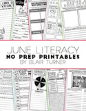 NO PREP Literacy Printables - June