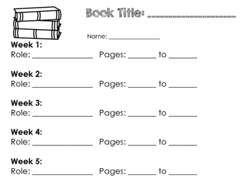 Literature Circle / Book Club Worksheets & Printables
