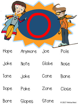 NO PREP Long O with Sneaky E Comprehension Stories and Word Sorts