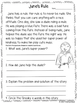 NO PREP Long U Sneaky E Comprehension Stories and Word Sorts