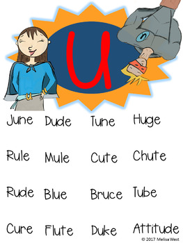 NO PREP Long U Sneaky E Comprehension Stories and Word Work