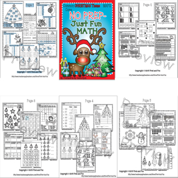 NO PREP MATH BUNDLE WINTER AND CHRISTMAS COMMON CORE MAFS