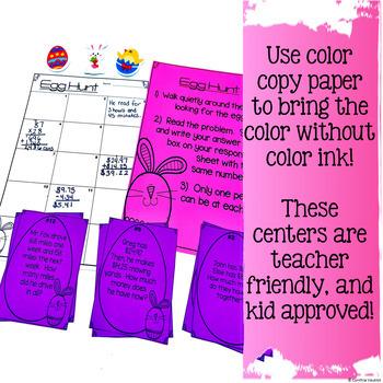 3rd Grade Math Centers for April NO PREP