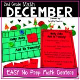 2nd Grade Math Centers for December No Prep