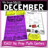 4th Grade MATH Centers for December No Prep