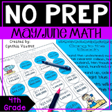 4th Grade MATH Centers for May/June No Prep (End of Year)