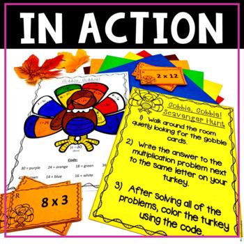 NO PREP! MATH Centers for November {3rd Grade}