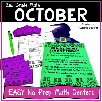 NO PREP MATH Centers for October {2nd Grade}