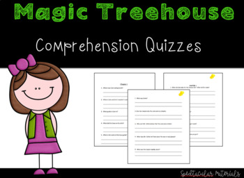NO PREP Magic Tree House Dolphins at Daybreak Chapter Quizzes