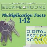 NO-PREP Math Escape -Math Facts 1-12 - Multiplication Esca