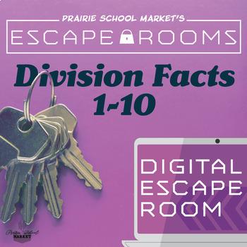 NO-PREP Division Escape Room- Division Fact Families-Division Games-Math Escape