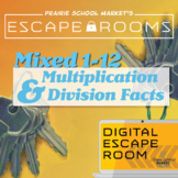 NO-PREP Math Escape Room - Multiplication & Division Facts